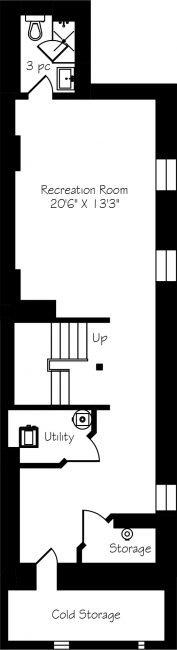 74 Concord Avenue - Floor Plan - Basement